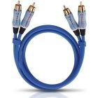 Межблочный аудио кабель Oehlbach BEAT! Stereo 2RCA-2RCA 1.0m (2701)