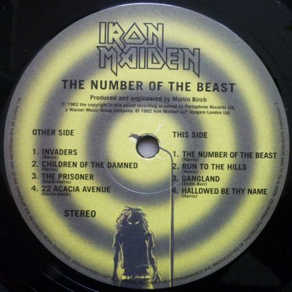 Виниловая пластинка Iron Maiden THE NUMBER OF THE BEAST (180 Gram)