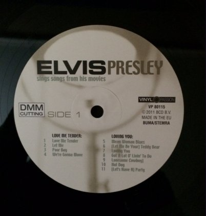 Виниловая пластинка Elvis Presley SINGS SONGS FROM THE MOVIES (180 Gram)