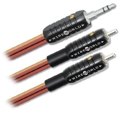 Кабель межблочный аудио Wire World Nano-Eclipse Mini Jack to 2 RCA 1.5m