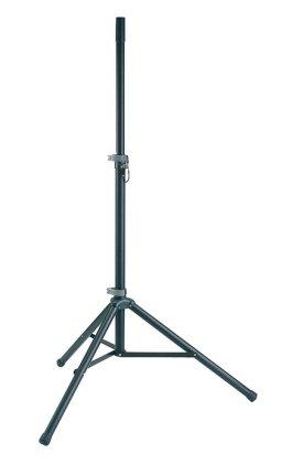 Стойка тренога под колонку K&M 21450-000-55, диаметр трубы 35 мм, высота 1270 - 1930 мм, алюминий, черная, до 50 кг.
