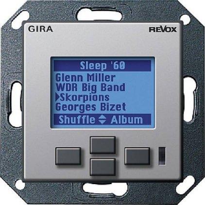 Настенная панель управления Revox M217 display GIRA System 55 (под алюминий)