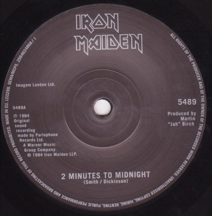Виниловая пластинка Iron Maiden 2 MINUTES TO MIDNIGHT (Limited)