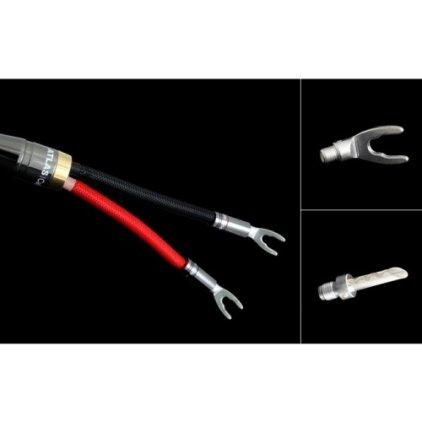 Акустический кабель Atlas Mavros Wired (2x4) 7.0m Transpose Spade Silver