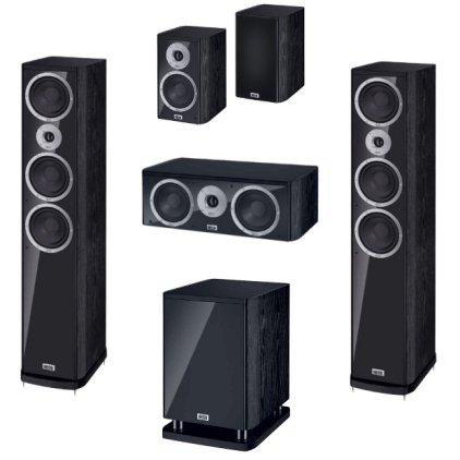 Комплект акустики Heco Music Style 900 Set 5.1 black/black (900+200+c2+s25)