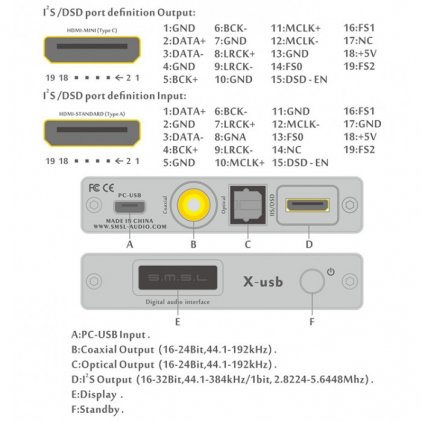 ЦАП SMSL X-USB black