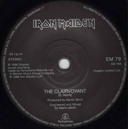 Виниловая пластинка Iron Maiden THE CLAIRVOYANT (Limited)