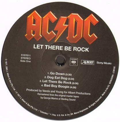 Виниловая пластинка AC/DC LET THERE BE ROCK (Remastered/180 Gram)