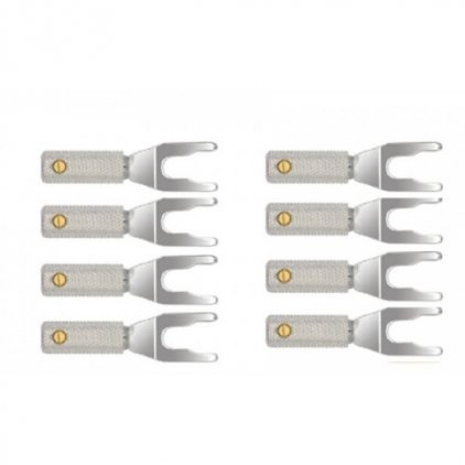 Разъем Wire World Set of 8 Uni-Term Silver Spades w/Sockets