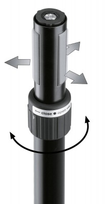 Стойка K&M K&M 21467-000-55 Ring Lock спикерная стойка на треноге, высота от 1,370 to 2,050 мм, диам. трубы от 35 до 37 мм, алюм., чёрный