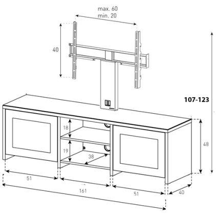 Подставка под телевизор Sonorous LB 2620 B-BLK