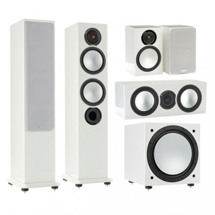 Комплект Monitor Audio Silver set 5.1 high gloss white (6+1+Centre+W12)
