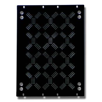 EuroMet EU/R-V8B  02010 Задняя рэковая панель 8U с отверстиями для вентиляции.