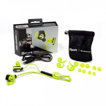 Наушники Monster iSport Bluetooth Wireless SuperSlim In-Ear Green (128652-00)