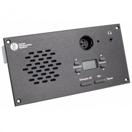 Микрофонный врезной пульт председателя со встроенной электроникой и передней панелью DIS CM 6080 F