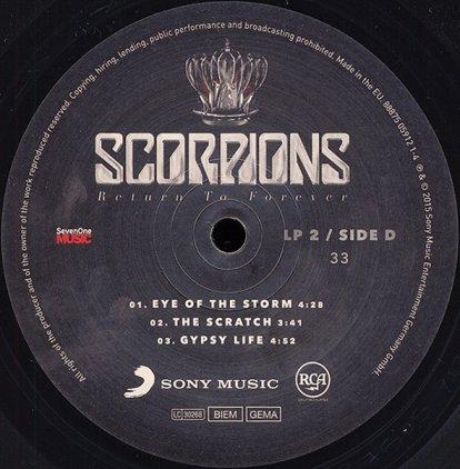 Виниловая пластинка Scorpions RETURN TO FOREVER (180 Gram)