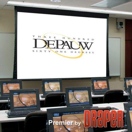 """Экран Draper Premier NTSC (3:4) 244/96"""" 152*203 M1300 (XT1000V) ebd 12"""" case white"""