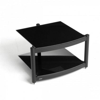 Atacama EQUINOX RS-2 Shelf Base Module Hi-Fi Silver/ARC Piano Black Glass