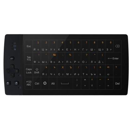Беспроводной полноразмерный TouchPad пульт + 56 клавишная QWERTY клавиатура Upvel UM-517KB