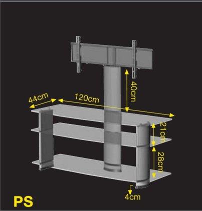 Подставка под телевизор Ultimate PX 1244B black alu