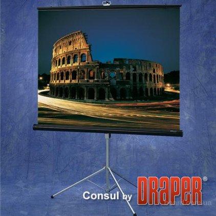 """Экран Draper Consul AV (1:1) 50/50"""" 127*127 MW (XT1000E)216002"""