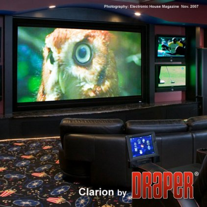 """Экран Draper Clarion HDTV (9:16) 302/119"""" 147*264 HDG Vel-Tex 252138"""
