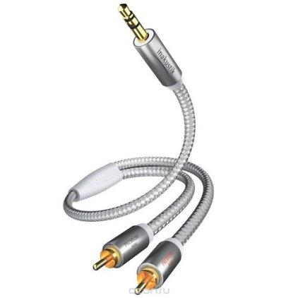 Кабель межблочный In-Akustik Premium MP3 3.5 мм <> 2RCA 5.0m #00410005