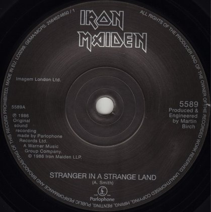 Виниловая пластинка Iron Maiden STRANGER IN A STRANGE LAND (Limited)
