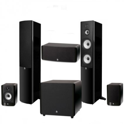 Boston Acoustics A360 + A25 + A225C + ASW250 black
