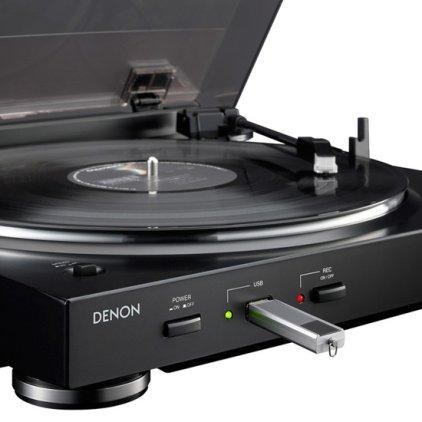 Проигрыватель винила Denon DP-200 USB black