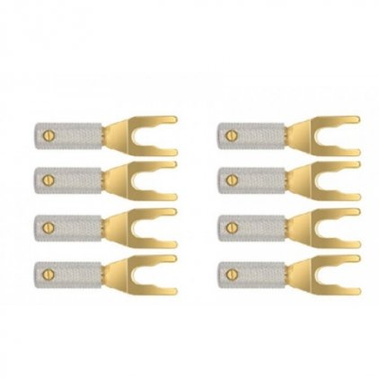 Разъем Wire World Set of 8 Uni-Term Gold Spades w/Sockets