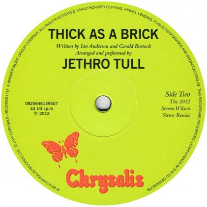 Виниловая пластинка Jethro Tull THICK AS A BRICK (180 Gram)
