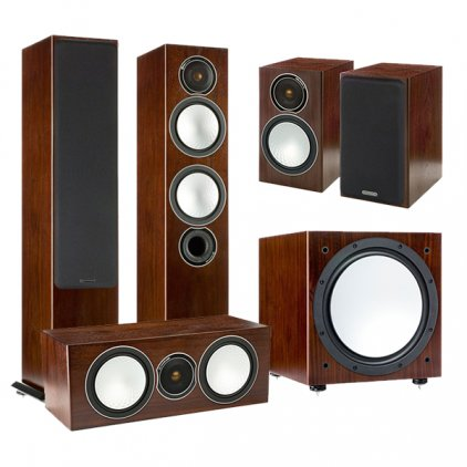 Комплект Monitor Audio Silver set 5.1 walnut (6+1+Centre+W12)