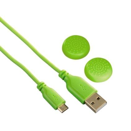 Зарядный кабель Hama SuperSoft зеленый