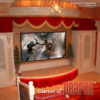 """Экран Draper Clarion HDTV (9:16) 269/106"""" 132*234 XH600V"""