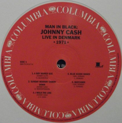 Виниловая пластинка Johnny Cash MAN IN BLACK: LIVE IN DENMARK 1971 (White And Red vinyl)