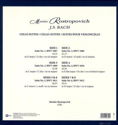 Виниловая пластинка Mstislav Rostropovich J.S. BACH - CELLO SUITES (Box set/Remastered)