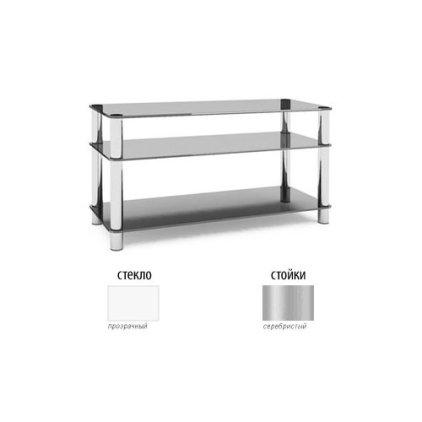 Подставка под телевизор MD Flatform TV 15 (серебро/прозрачное стекло)
