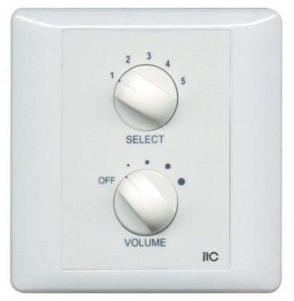 Панель ITC T-2200S Селектор программ/регулятор громкости 200 Вт/100 В