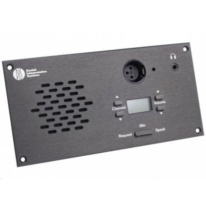 Микрофонный врезной пульт делегата со встроенной электроникой и передней панелью DIS DM 6080 F