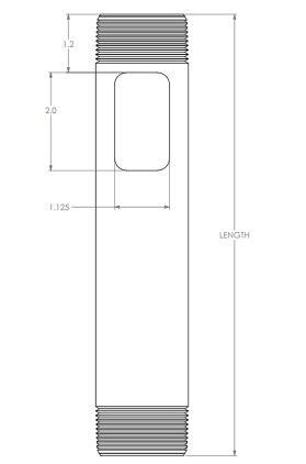 """Штанга CMS012s Silver длина 12"""" (30.5см)"""