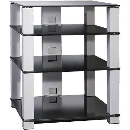 Подставка под аппаратуру Март Hi-Fi New (черный/черное стекло)