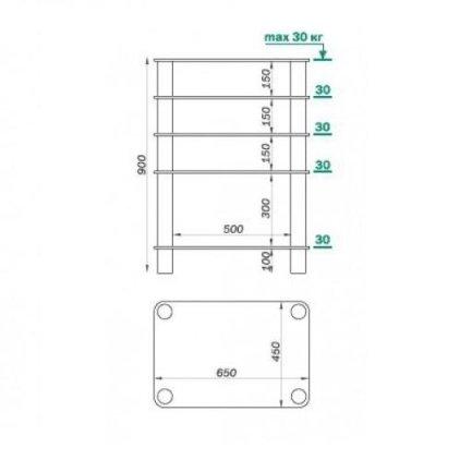Подставка под аппаратуру MD 108-5 (серебро/прозрачное стекло)