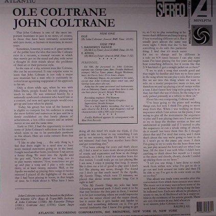 Виниловая пластинка John Coltrane OLE (180 Gram)