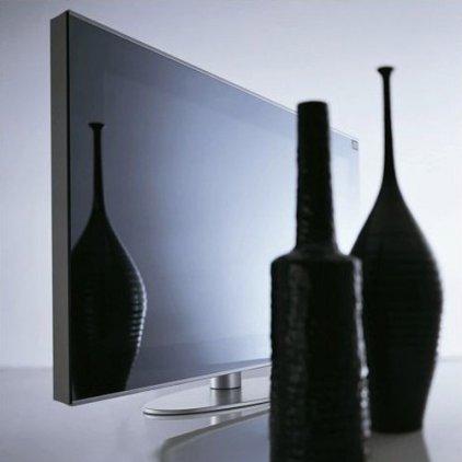 "ЖК телевизор Hantarex LCD 42"" Four Stripes Blk/mir черное зеркало, черная алюминиевая рамка"