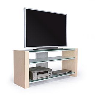 Подставка под телевизор MD 542 (дуб/матовое стекло)