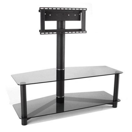 Подставка под телевизор MD 525-1 (черный/дымчатое стекло)