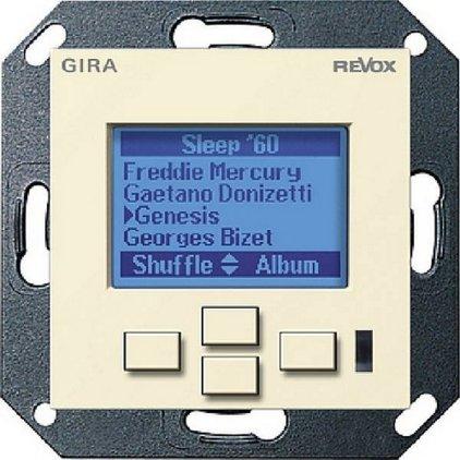 Настенная панель управления Revox M217 display GIRA System 55 (глянцевый кремовый)