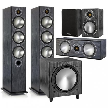 Комплект Monitor Audio Bronze set 5.1 black oak (6+1+Centre+W10)