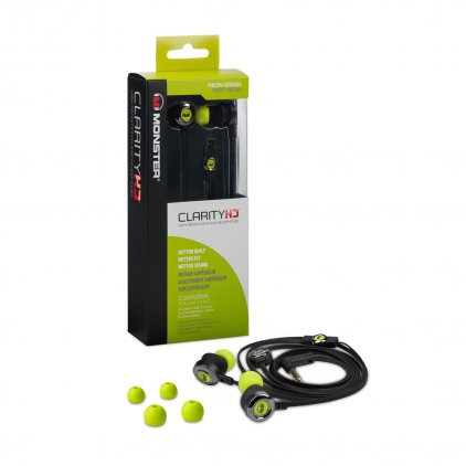 Наушники Monster Clarity HD High Definition In-Ear Headphones Green (128667-00)